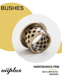 C86300 Slide Bearing Sturned Bronze & Flanged Bushing Solid Lubricant ฝังตัว ผู้ผลิต
