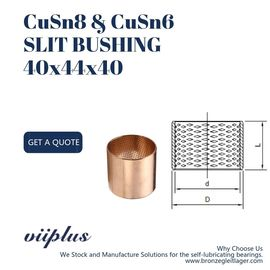 Slit Oilless Bronze Bushings สำหรับ Hydraumatic CuSn8P 40x44x40 BMZ 4040 ขนาด ผู้ผลิต