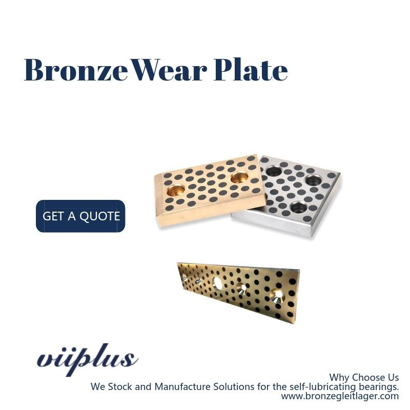 CNC Bronze Steel & Self Lubricating Wear Plate ขนาดนิ้วปลั๊ก Oilimpregnated Graphite